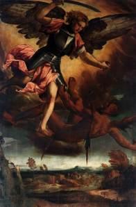"Veronese Bonifacio, \""Michael Vanquishing the Devil\"""