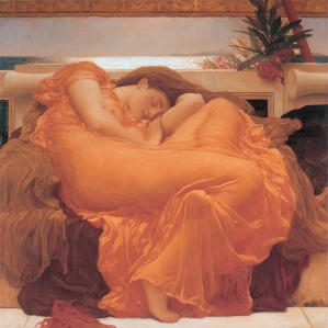 "Fredrick Lord Leighton's ""Flaming June"""